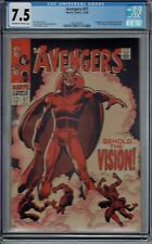 CGC 7.5 AVENGERS #57 1ST APPEARANCE OF THE VISION OW/W PAGES 1968