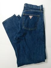 Vtg GUESS USA Traditions Jeans Men's 32x32 Classic Fit Narrow Leg Dark Wash