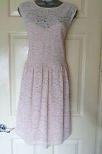 Dorothy Perkins.. Talla 18... Precioso Vestido Skater Encaje en Rosa estilo.. look