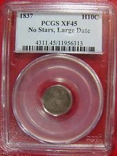 1837 Half Dime No Stars Large Date PCGS XF 45 Cert# 11956313