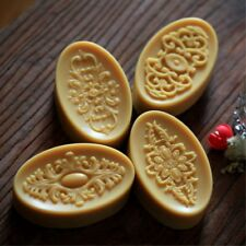 Oval Flower Handcrafted Candle Mold Soap Mold DIY Craft Silicone Handmade Mould