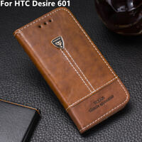Luxury Leather Wallet Case Kickstand Card Slots Cover 4.5'' For HTC Desire 601