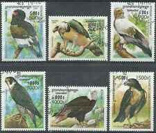 Timbres Oiseaux Rapaces Cambodge 1677/82 o lot 26576