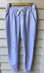 Lululemon Grey Marle Pants Track M Men's Zip/Side Pockets Tie Tapered Leg As New