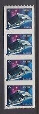 CANADA COIL SC # 2985 STRIP OF 4 MNH GALILEO - STAR TREK SHUTTLECRAFT NCC-1701/7