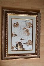 Salvador Dali Original Mixed Media Color Litho Biblia Sacra 1964 Framed ~ COA