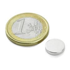 Super Magnete STOCK 20 Dischi al Neodimio dimens. 10 x 2 mm Pot. 1,2 Kg. LOTTO