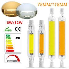 Regulable 78mm/118mm R7s COB Led Luz De Inundación Seguridad sustituye bombilla halógena 6 12W