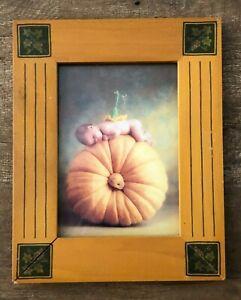 """Anne Geddes Baby Pumpkin Gourd Fetco Frame Print Photo 8 x 10"""" Nursery picture"""