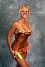 Sexy Copper Lame Mini Party Dress/Pole Dancer/Clubwear/Rave/Made in usa/s-m