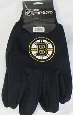 NHL NWT NO SLIP UTILITY WORK GLOVES - BOSTON BRUINS