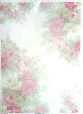 Rice Decoupage Paper,  Decoupage Sheets, Scrapbooking, Light Roses, Decopatch