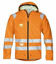 Snickers Workwear 8233 High-Vis PU Rain Jacket Class 3 SnickersDirect Orange