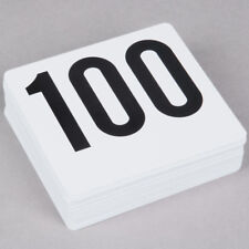 Table Number Cards # 1 - #100 Free Shipping Usa Only