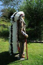 "Genuine American Navajo Indian Headdress 68""  Double Trailer"