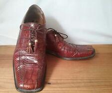Stacey Adams Vintage Snake Skin Brown Lace Up Oxford Tassels US Size 10.5 EU 44