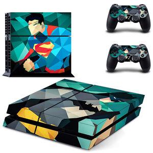 PS4 Skin super hero Designfolie Sticker Playstation 4 Vinyl Schutzfolie - Matt