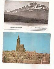 N°181- lot 2 cartes postales publicitaires - chocolat Klaus et biscottes Clément