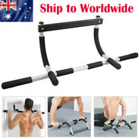 Doorway Pull Up Bar Chin Up Sit-Up Strength Body Workout Exercise Fitness Gym AU