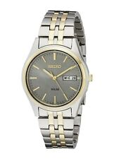 Seiko SNE042 Men's Solar Dress Two-Tone Stainless Steel Day & Date Watch