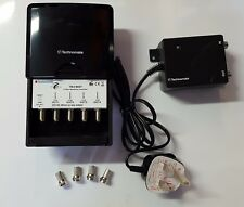 Masthead TV Aerial Amplifier Kit 4 Way - Technomate TM-4 MAST 12-25dB