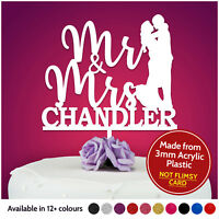 Mr & Mrs PERSONALISED Wedding Cake Topper Wedding Cake Decoration Keepsake