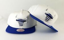 New Mitchell & Ness Chicago Bulls White / Royal Blue Destructed Snapback Hat
