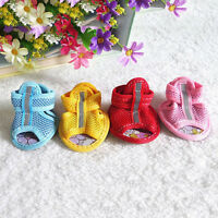 1Set Pet Dog Puppy Summer Mesh Sport Small Shoes Antislip Sneakers Sandals Boots