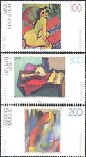 Germany 1996 Paintings/Art/Nude/Guitar/Abstract/Modern/Artists 3v set (n31294)