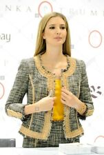IVANKA TRUMP Agata Beige Tan TWEED JACKET BLAZER - sz 2 XS NWT