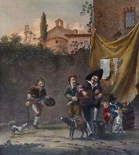 Charlatans et animaux savants retirage du Musée du Louvre école Hollandaise