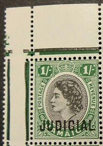JAMAICA 1957 1/- JUDICIAL - GREEN AND BLACK -  MNH