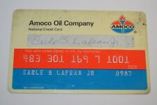 Vintage Used AMACO Oil Company Plastic Credit Card Rare Standard Oil Company