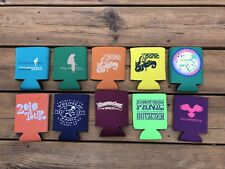 Lot Of 10 Official Widespread Panic Tour Coozies Rare Oop