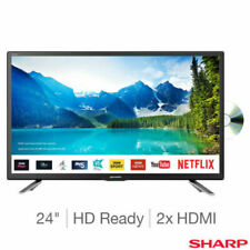 24 Inch LED Smart TV Sharp HD Ready with Built-In DVD Player + Freeview HD Uk NE