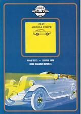 FIAT 600 600D 850 Berlina Coupe & Spider 1955 - 1970 periodo di prove su strada LIBRO