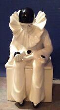 Vintage Taste Setter Sigma Harlequin Clown Ceramic Pierrot Square Trinket Box