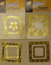 Metal frames Embellishments for papercrafting - Set 2 Brass