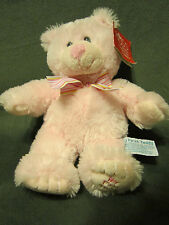 """Russ Berrie My First Teddy with Tag Pink 11"""" tall 24911 Make Someone Happy Bear"""