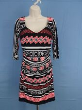 Ladies Stretch Dress - Sangria - Multi-colored Jersey - Size 8