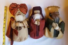 Three Fabric Wise Men Magi Nativity Scene Dolls Christmas table Decorations New