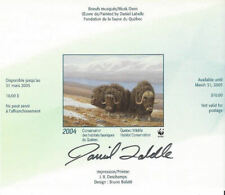 2004 Canada Quebec Wildlife Conservation WWF  -DQ45as IMPERF overprinted Mint NH