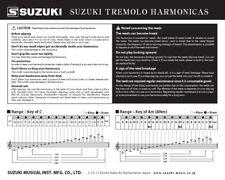 PDF user manual for Harmonica Suzuki Winner Tremolo W24 Key of C Japan Brand