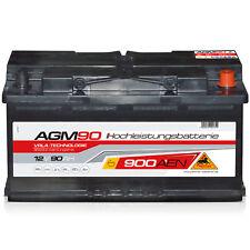 Versorgungsbatterie AGM 90 - 12 V 90 Ah 900 A/EN Solar Auto Traktor Boot Reha