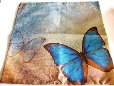 """Pillow Case, Approx. 17""""x17"""",Cotton,Zipper on bottom, Butterflies"""