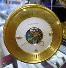 Bulova Accutron MASONIC Spaceview Brass Black Desk Mantel Clock