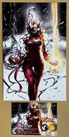 Captain Marvel #8 InHyuk Lee VIRGIN Variant 2nd Print w/ COA * GEMINI SHIPPING