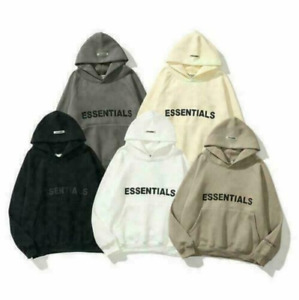 Mens Womens FEAR OF GOD ESSENTIALS High Street Hoodie Couple Sweater FOG Jacket