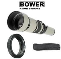 Bower 650-1300mm Telephoto Zoom Lens for Nikon Digital SLR Cameras (See listed)