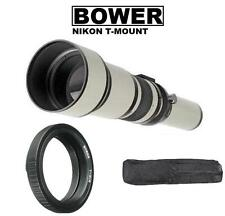 Bower 650-1300mm Telephoto Zoom Lens for Nikon DSLR Camera D5600 D3400 & more
